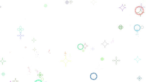 geometric pattern particles_colorful white background_loop CG動画素材