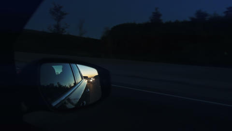 Highway traffic at dusk Footage