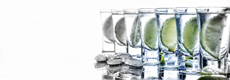 alcohol, mojito, drink, cocktail, bar, lime, white background フォト