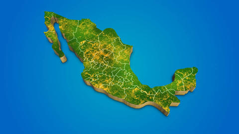 Mexico country map satellite camera zoom in sky effect shot visualization After Effects Template
