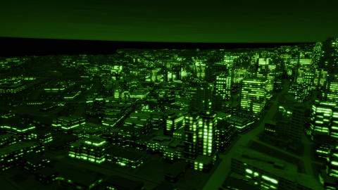 Night city side track night vision Animation