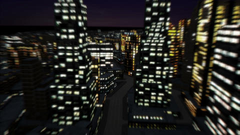 Night city track out 4K Animation