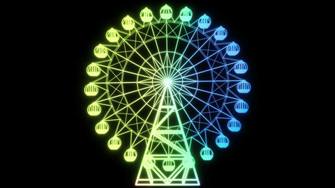 Ferris wheel_rainbow color_loop 1 Animation