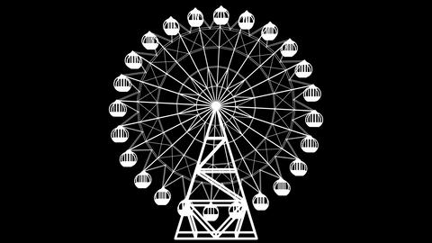 Ferris wheel_B &W_Loop 1 Animation
