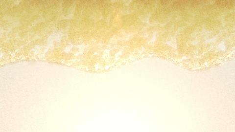 Blue Ocean On Sandy Beach With Wave Foam, CG Loop Animation CG動画素材