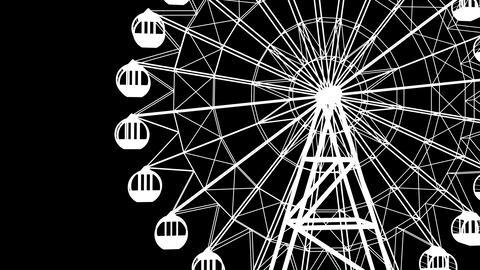 Ferris wheel_B & W Animation