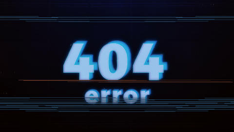 Hacker element and pixel noise Glitch with the 404 error Animation