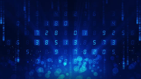 Many Numbers Background, Business CG animation, Loop CG動画素材