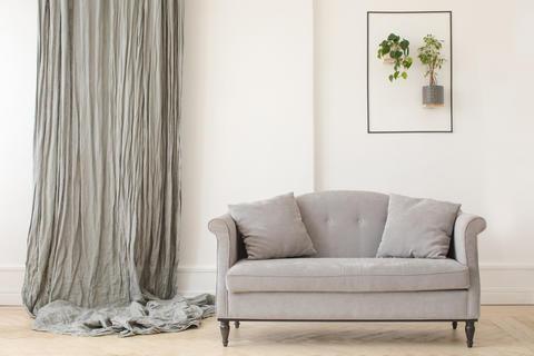 Minimalist elegant interior of living room Photo