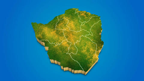 Zimbabwe country map satellite camera zoom in sky effect shot visualization After Effects Template