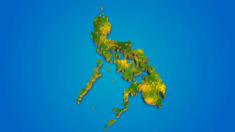 Philippines country map satellite camera zoom in sky effect shot visualization After Effects Template