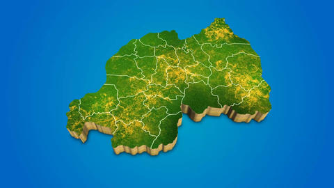 Rwanda country map satellite camera zoom in sky effect shot visualization After Effects Template