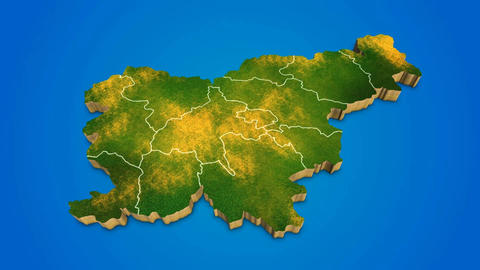 Slovenia country map satellite camera zoom in sky effect shot visualization After Effects Template