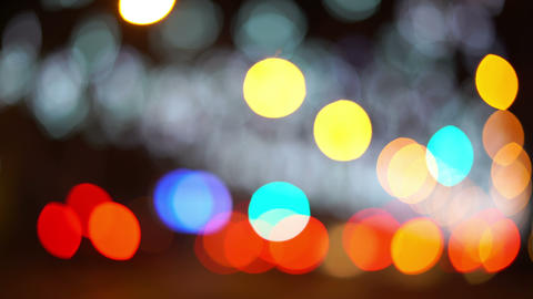 Bokeh Lights Cars And City Footage