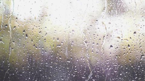 Rain Drops On Glass Stock Video Footage