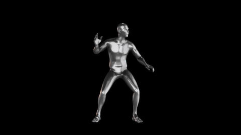 3D Metal Man Animation Loopable Graphic Element Animation