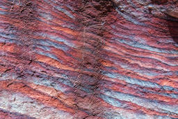 Sandstone pattern, geological texture in Petra フォト