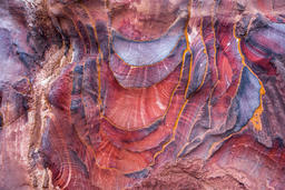 Sandstone pattern, geological texture in Petra Photo