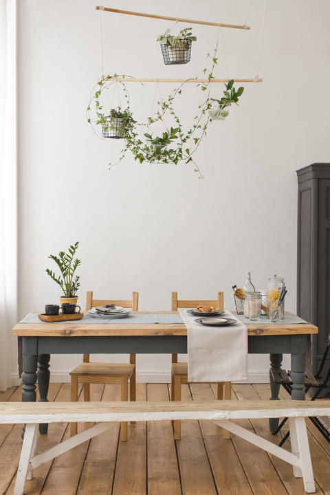 Interior view of rustic kitchen Photo