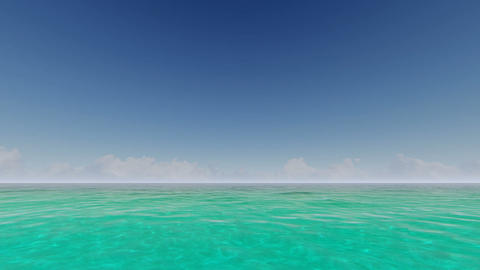 Tropical ocean with clouds on the horizon Footage