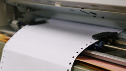Dot Matrix printer documents Footage