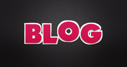 Blog. Intro. The word blog in a stop motion animation... Stock Video Footage