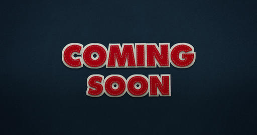 Coming Soon. Intro. The animation lets the words fly in and out again. Animation
