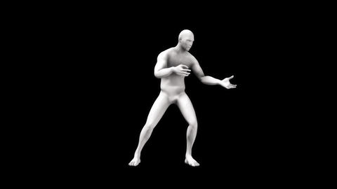 3D Marble Man Animation Loopable Motion Graphic Element Animation