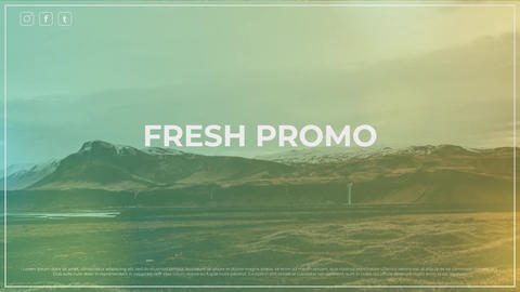 Fresh Promo After Effects Template
