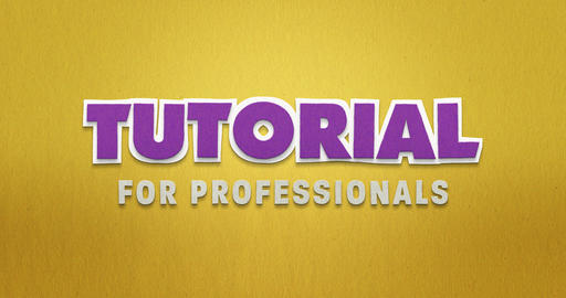 Tutorial for professionals. stop motion animation. yellow purple Animation