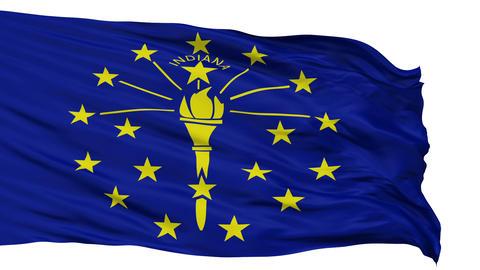 Isolated Waving National Flag of Indiana Animation