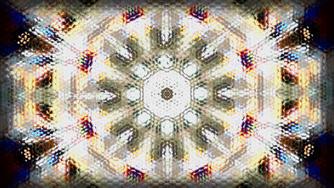 Background kaleidoscope pattern colours beehive Footage