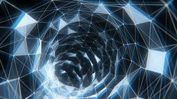 Digital Wormhole Blue Animation