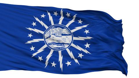 Isolated Waving National Flag of Buffalo City Animation