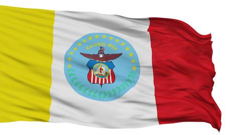 Isolated Waving National Flag of Columbus City Animation