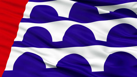 Close Up Waving National Flag of Desmoines City Animation