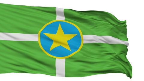 Isolated Waving National Flag of Jackson City Animation
