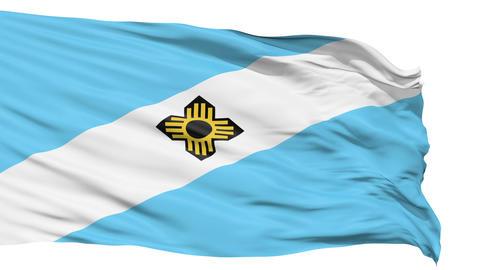 Isolated Waving National Flag of Madison City Animation
