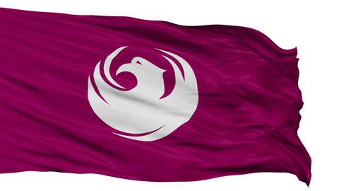 Isolated Waving National Flag of Phoenix City Animation