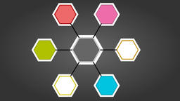 Hexagons being colored one by one by lighting spot Animation