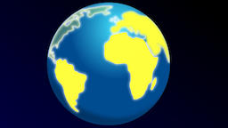 Planet Earth with step by step lightening continents Animation
