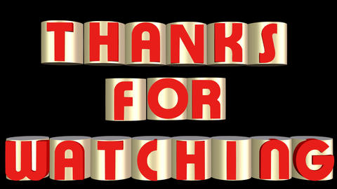 Thank You Banner Animated Inscription Outro 1