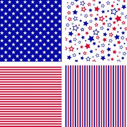 Vector set of US style seamless patterns ベクター