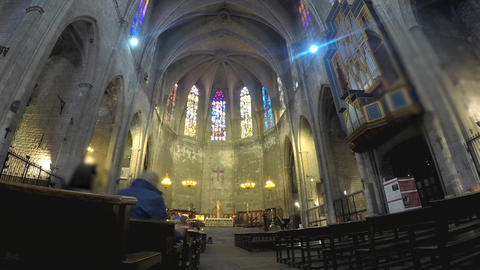 At A Christian Cathedral Footage