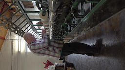 Trefriw / Wales - April 24 2018 : Historic woolen mill production in Wales - Footage