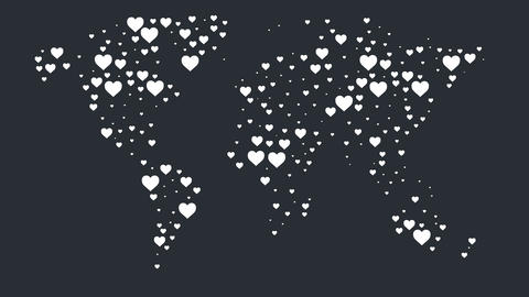 Hearts World Map CG動画素材