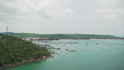 Island from a height. Nice view of the island. A beautiful view is not a stray Footage