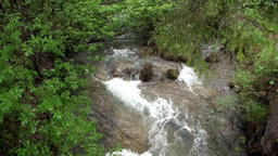 Quiet mountain river at Fernpass in Nassereith Austria Footage