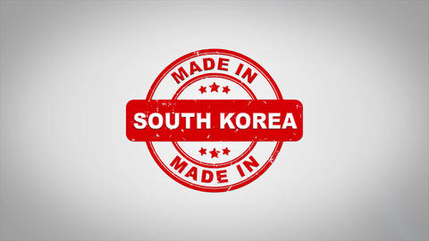 Made In south korea Signed Stamping Text Wooden Stamp Animation Animation