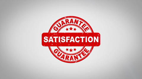 Satisfaction Signed Stamping Text Wooden Stamp Animation Animation